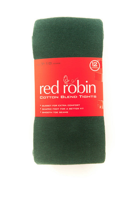 Red Robin Girl's School Tights Bottle Green