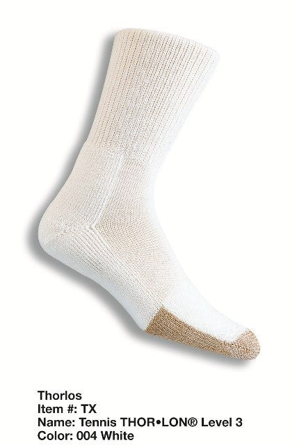 Thorlo Tennis Crew Socks TX (White)
