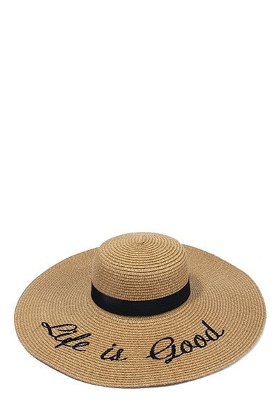 Life is Good Beach Hat