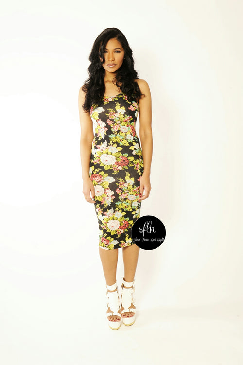 Floral Mini Midi Dress - Shoes From Last Night - 1