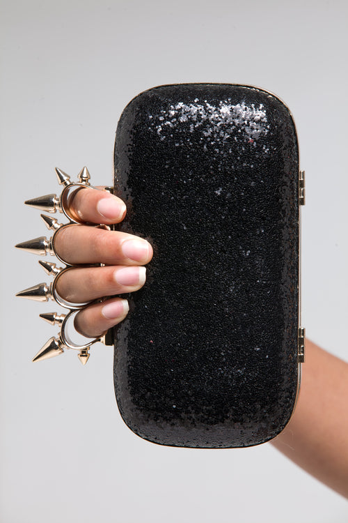 Black Glitterati Clutch - Shoes From Last Night - 1