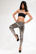 Silver Liquid Legging - Shoes From Last Night - 2