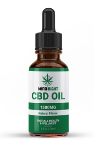 Mind Right CBD Oil - 1500 MG