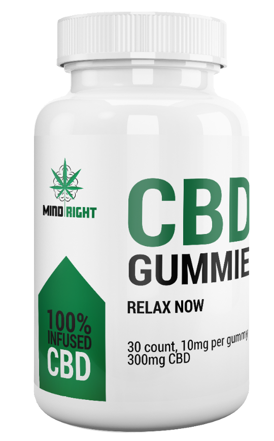CBD Hemp Oil Gummy Bears (25 MG Per Gummy)