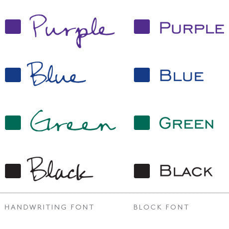 Font and colour choices