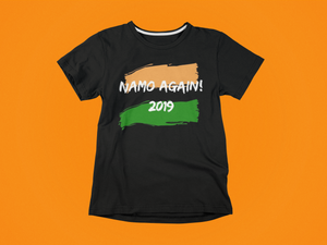 Namo Again 2019 - Round Neck - Black Tshirt