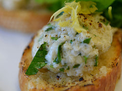 Photo of Dungeness Crab Toasts with Lemon and Parmesan