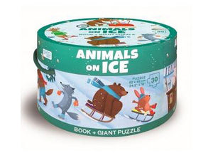 Animals On Ice Puzzles and Book