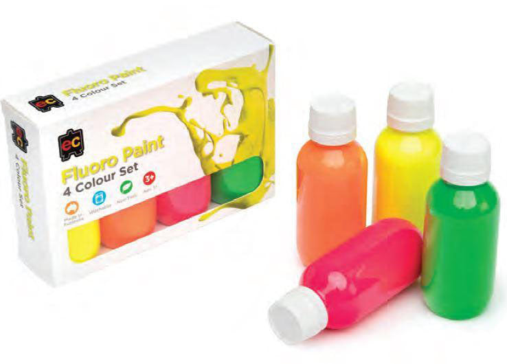 Fluoro Rainbow Paint Set of 4