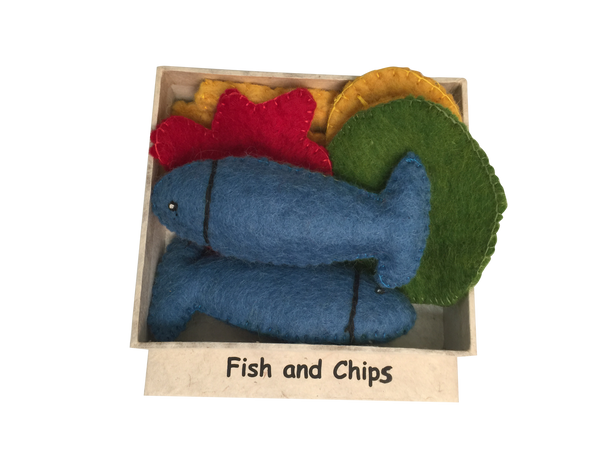 Felt Fish and Chips Dinner