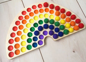 Rainbow Sorting Board (Coloured Pits)