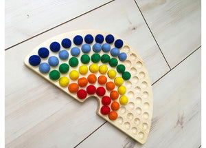 Rainbow Sorting Board (Non-Coloured Pits)