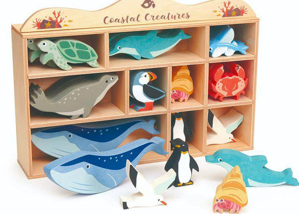 Wooden Coastal Animals Set