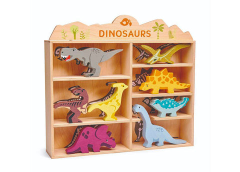 Wooden Dinosaur Set