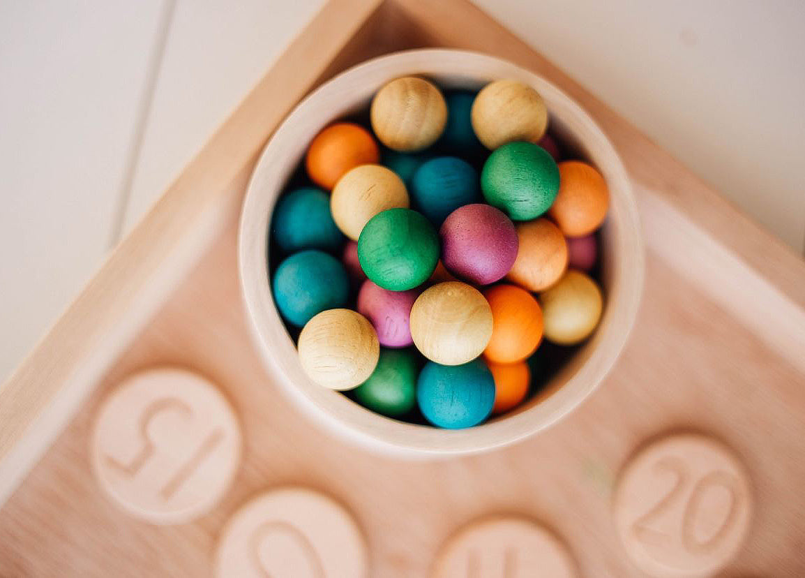 Wooden Balls Set of 50
