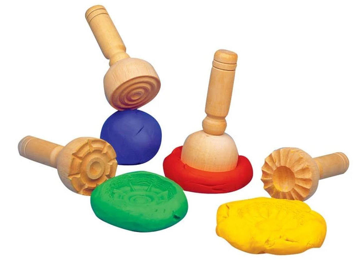 Wooden Dough Stampers (Set of 4)