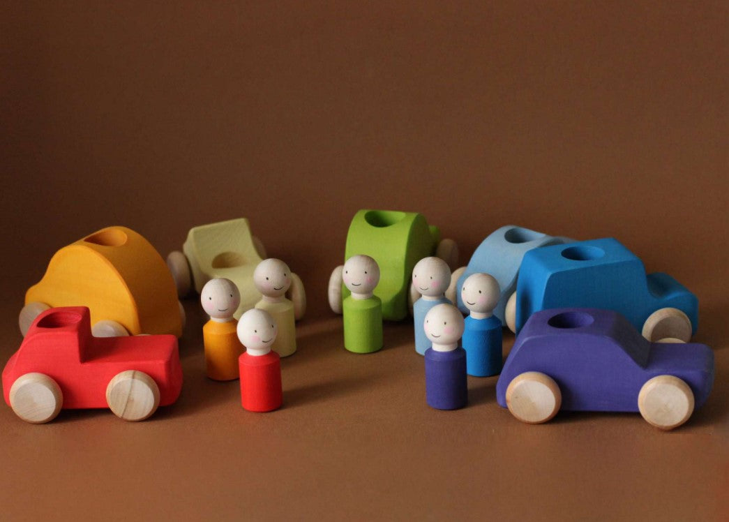 Skandico Peg People and Car Set