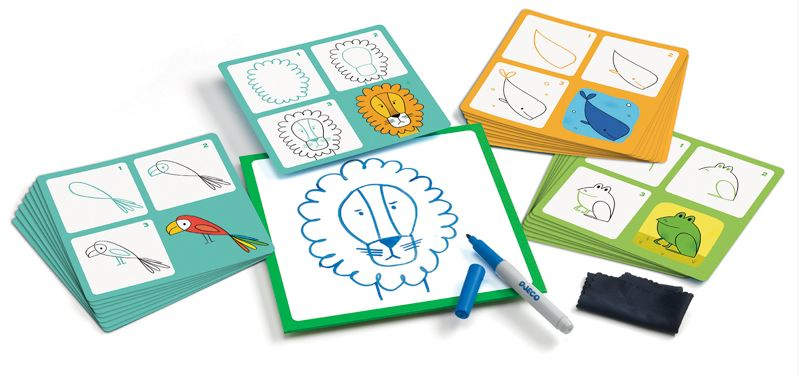 Step By Step Animals' Drawing Cards