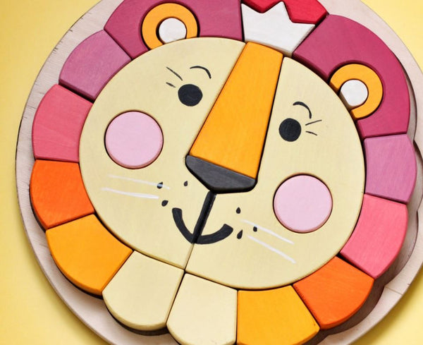 Skandico Lion and Bear Puzzles (Set of 2)