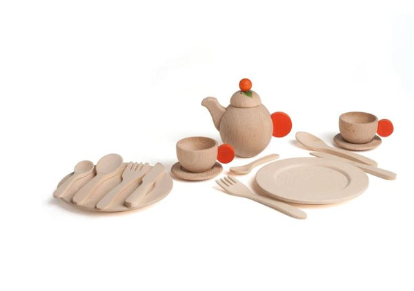 Erzi Crockery Set Natural
