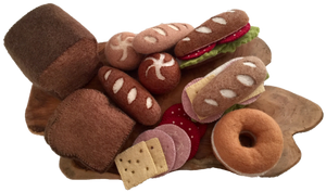 Felt Bread Set with Sandwich Toppings