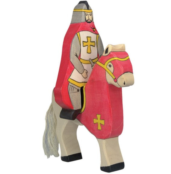 Tournament Horse with Knight (Red)