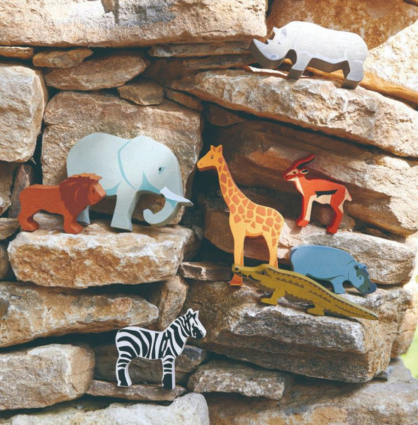 Wooden Safari Animals Set