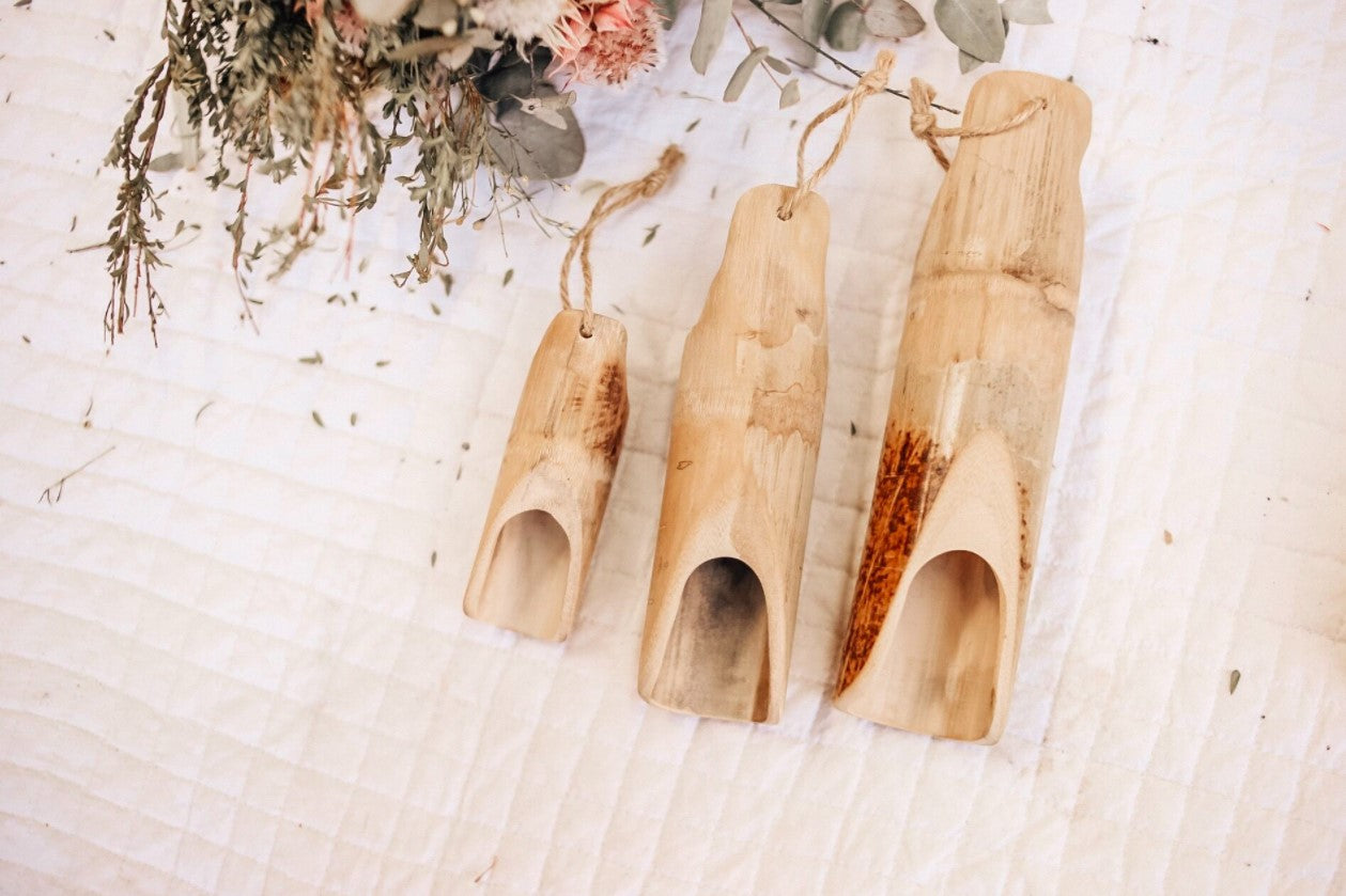 Bamboo Scoops Set of 3