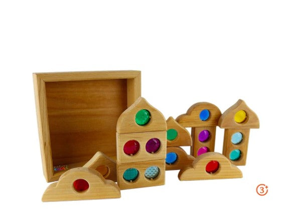 Bauspiel Window Shapes 12pcs (With Tray)