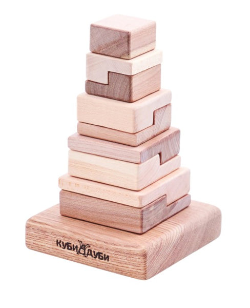 Wooden Stacking Puzzle - Techno