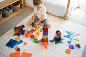 Learn & Grow Magnetic Tiles - 110 piece
