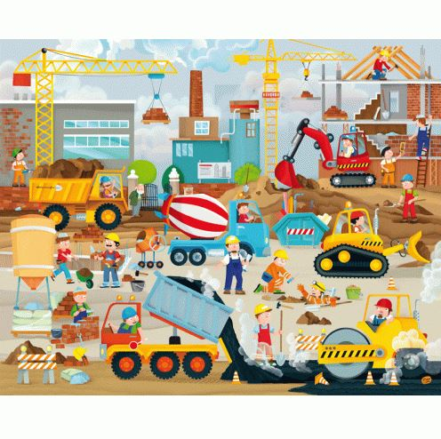 Construction Puzzles and Book Set