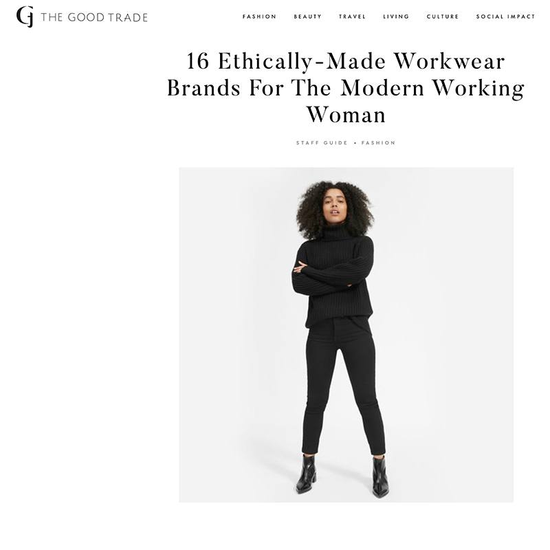 cce8a46fa667d The Good Trade. 16 Ethically-Made Workwear Brands ...