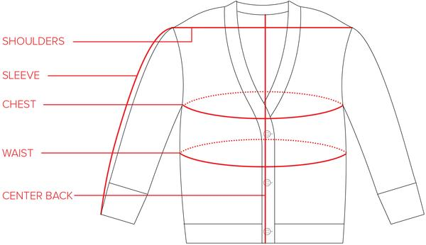 Shelter Cotton Cardigan Size Guide