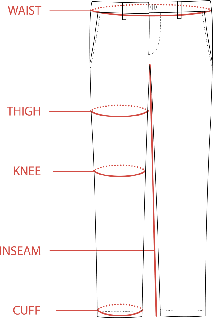 Chino Pants Size Guide