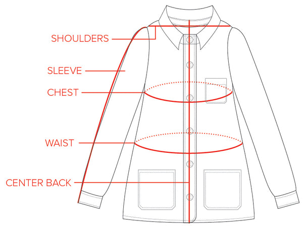 The Beverly Chore Coat Size Guide | Tradlands