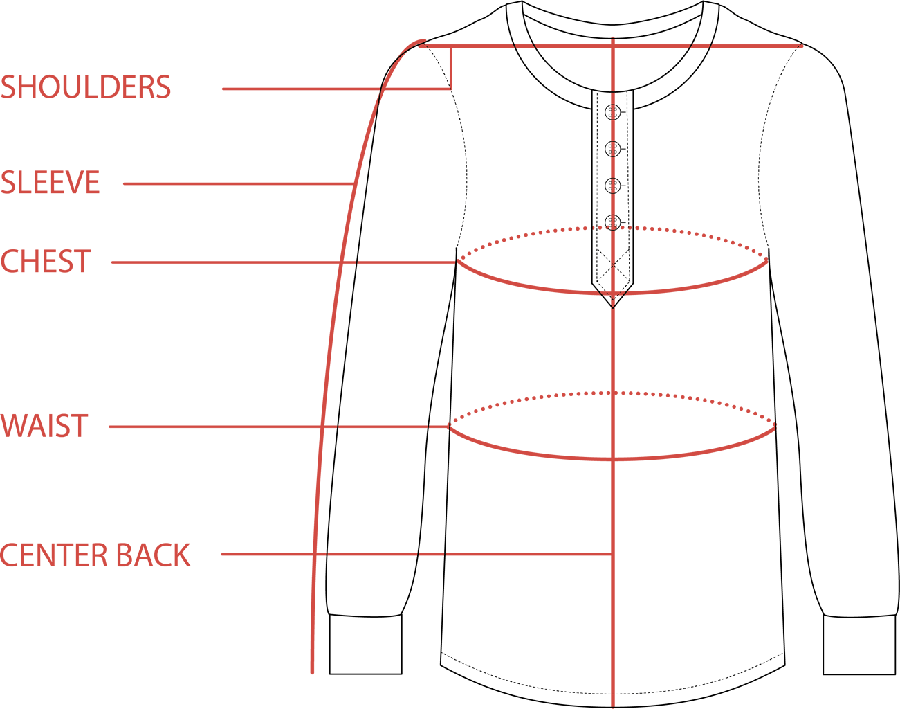 Henley Size Guide | Tradlands