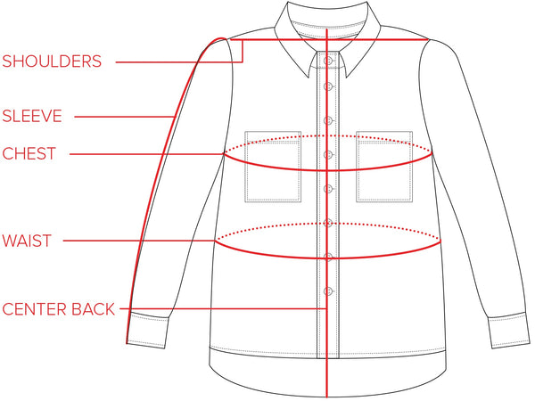 Long Sleeve Box Top Size Guide | Tradlands