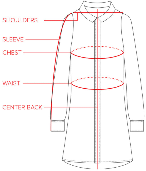 The Chelsea Dress Size Guide | Tradlands