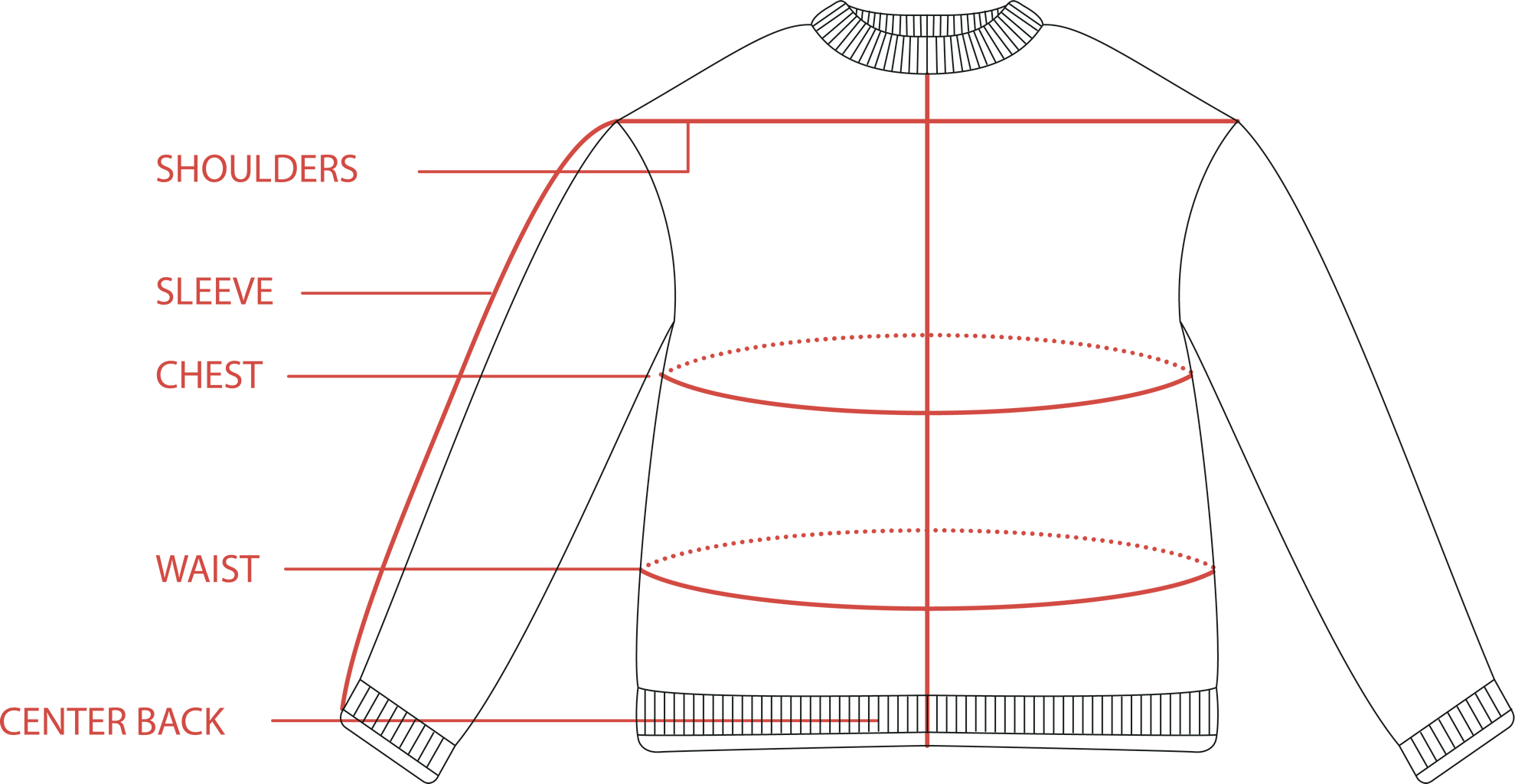Women's Sweater Size Guide | Tradlands