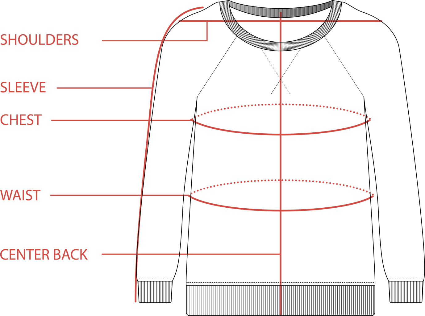 116 Sweatshirt Size Guide | Tradlands