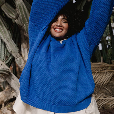 Pullover Sweater | Jude Pullover Sweater Cobalt