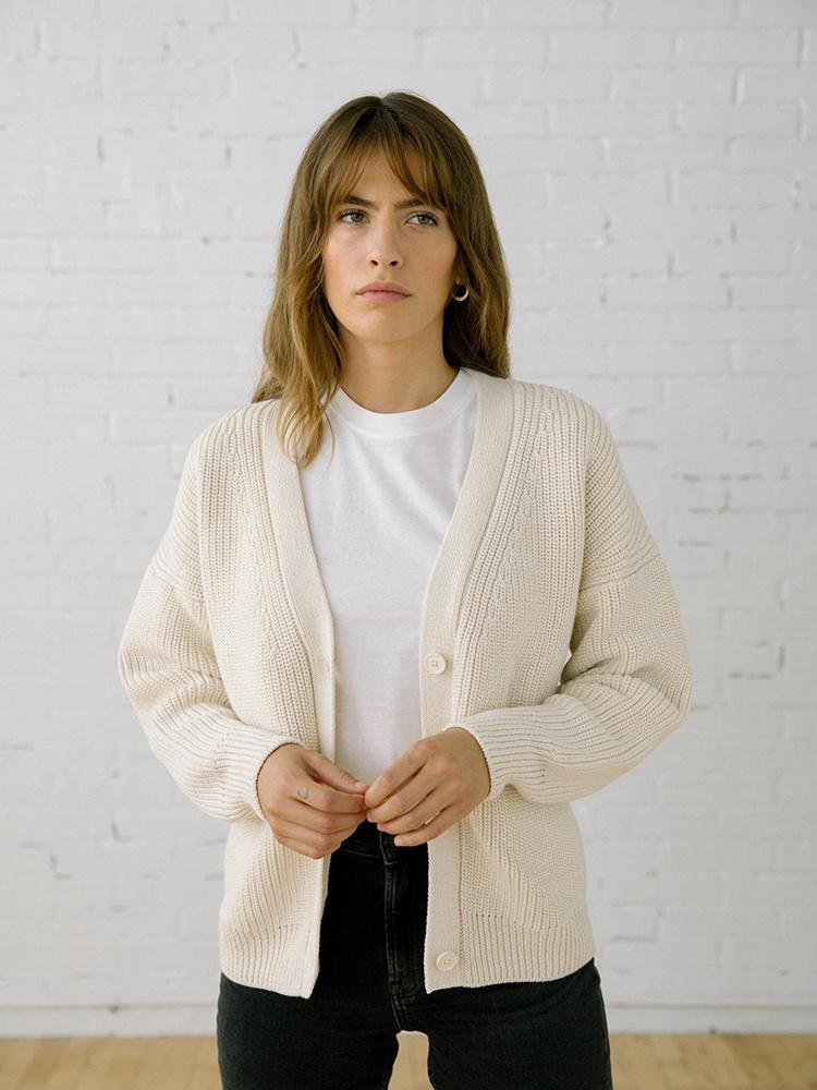 Women's Sweater | Shelter Cardigan Birch
