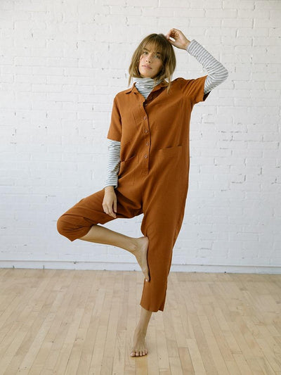 Jumpsuits & Rompers for Women | Finn Jumpsuit Clay Linen Tencel
