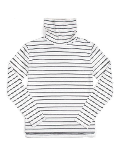 Women's Turtlenecks | The Monty Grey Stripe