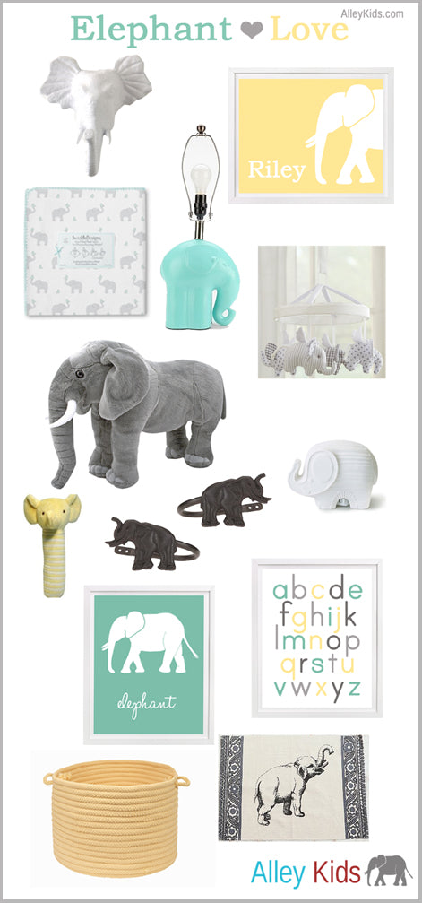 Elephant Inspiration Nursery Board