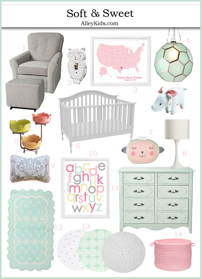 Soft and Sweet Nursery Inspiration Board
