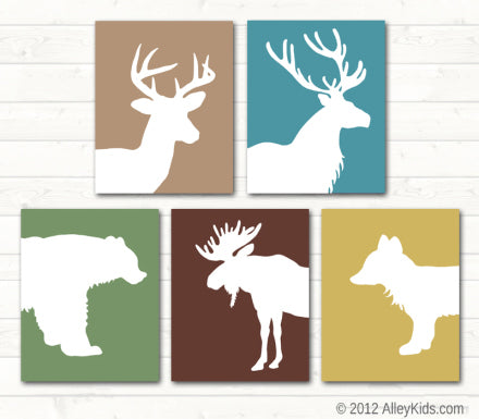 Woodland Animal Nursery Art