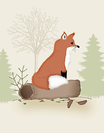 Fox nursery art, woodland nursery