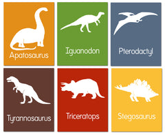 Dinosaur art set, nursery art